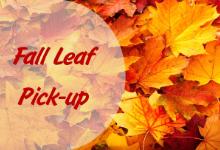 Fall Leaf Pick-Up