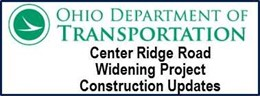 ODOT Center Ridge Road Widening Project Construction Updates